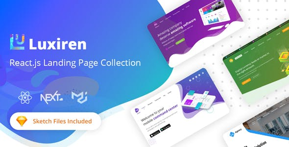Luxiren - React JS Landing Page Collection