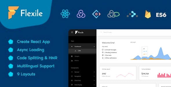 Flexile - React Redux Admin Template based on Ant Framework
