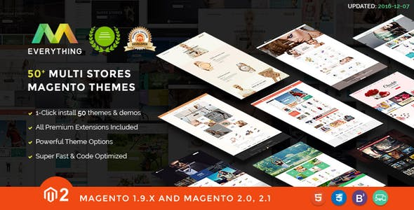 Everything | Multipurpose Responsive Magento Themes Bundle