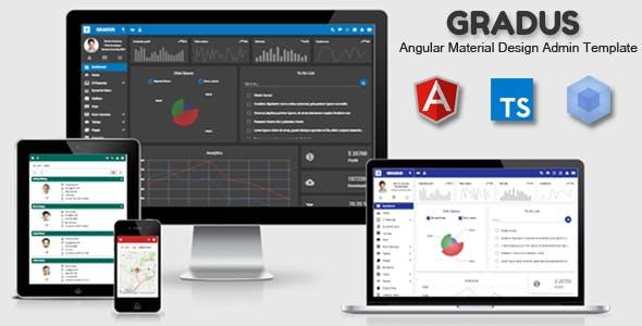 Gradus - Angular 8 Material Design Admin Template