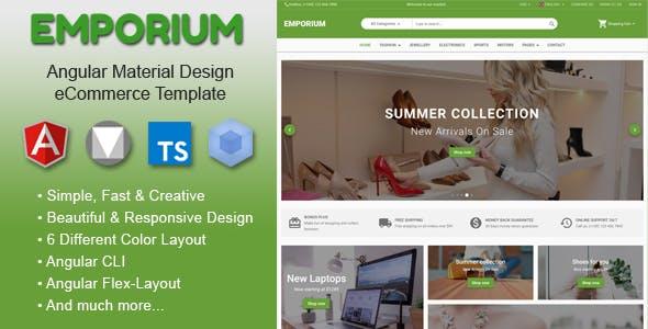 Emporium - Angular Material Design eCommerce Template